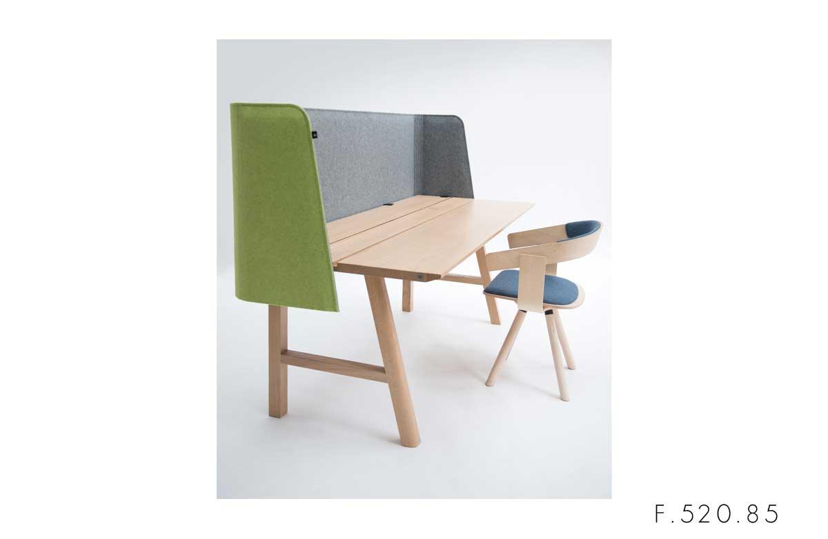 F.520.85 pannello fonoassorbente scrivania buzzi space buzzi wrap desk acusticax