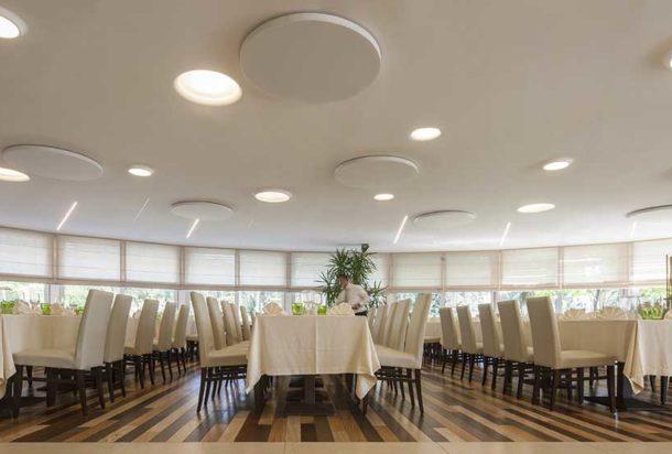 F.640.70 pannello fonoassorbente circolare parete soffitto caruso dot acustica