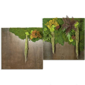Linfa decor Quadri metallo Metal Rust Green Forest