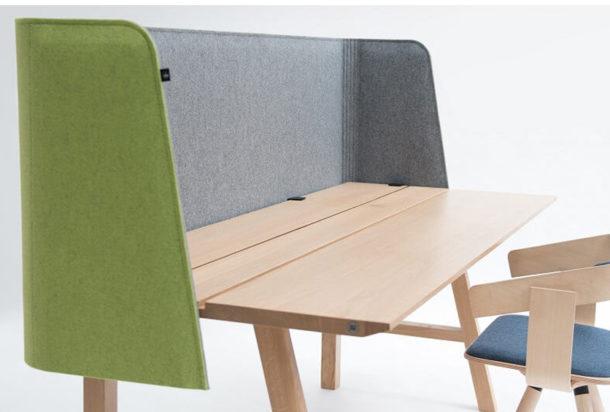 Buzzi space wrap desk pannello fonoassorbente