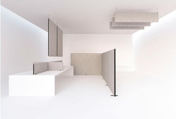 Garvan Blade pannelli a soffitto freestanding scrivania