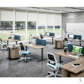 scrivania +SitStand Quadrifoglio
