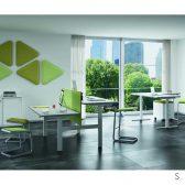 scrivania elevabile_in_altezza Quadrifoglio
